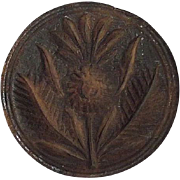 """REDUCED Rare """"Pineapple & Palm Leaves"""" Butter Print or Stamp ! Circa 1800's."""