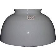 REDUCED Blown 10 inch White Bell Shade with a 5 inch top Fitter Ring !!! Ca ...