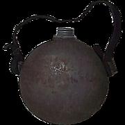 REDUCED Confederate Militia Drum Canteen with Zinc Screw Cap & Spout !!! Circa 1840's to 1861.