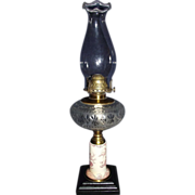 "REDUCED Rare ""Eastlake"" Decorated Stoneware Stem Oil Lamp Circa 1880's !!!"