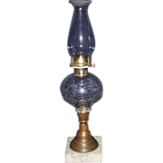 "REDUCED Rare ""Shield, Star, & Feather"" Pattern Oil Lamp Circa 1860's !!!"