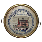 "REDUCED Rare ""Lebanon Valley Roller Mills * Wernersville,Pa."" Advertising Tray Circa"