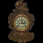 "REDUCED Very Rare Ansonia ""Portia"" Model Baroque Mantle Clock Case with Original Ant"