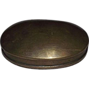 REDUCED Solid Brass Oval Snuff Box !!! Circa 1860's to 1880's.
