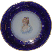 """REDUCED Large 14 1/2  inch """"Royal LaBelle * Wheeling Potteries Co."""" Portrait Charger"""