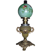 REDUCED Rare Miniature Parlor Lamp marked National Brass & Iron Works * Reading,Pa. !!!