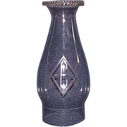 """REDUCED Engraved Chimney with """"E"""" Monogrammed inside a Diamond !!!  Circa 1900."""
