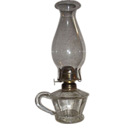 "REDUCED Rare ""Atterbury"" Dated 1868 Finger Lamp !!!"
