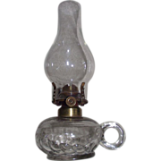 REDUCED Early Atterbury Finger Lamp with Raised Lettering Patented June 30th, 1868 !!!