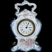 SOLD Miniature China Clock with marked Ansonia Movement !!! Circa 1900.