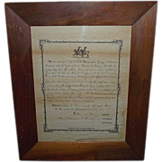 REDUCED Pre Civil War Militia Discharge for Jonathan Reber, Dated July 4th, 1856  !!!