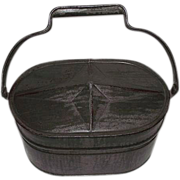"""SOLD Fabulous Tinsmith """"Lunch Pail"""" with Raised Starburst Lid made for """"Clare G"""