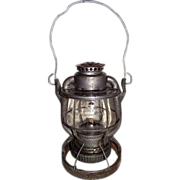 """REDUCED Weighted """"Reading Company Locomotive Dept."""" Railroad Lantern with Earlier """""""