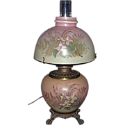REDUCED Small GWTW Electrified Lamp & Matching Shade with 3 Way Rotary Switch !!! Lamp ...