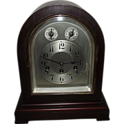 "REDUCED Westminster Chimes ""Junghans"" German Mahogany Mantle Clock !!! Circa 1920."