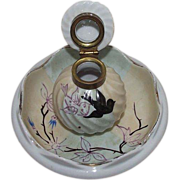 REDUCED Ladies Inkwell with Artist Hand Painted Birds & Tree Branch !