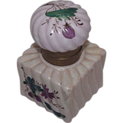 REDUCED Ladies Artist Hand Painted China inkwell with Matching Lid !