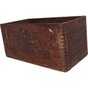 "REDUCED ""Carter's Ink"" Wood Shipping Crate Circa 1909  !"