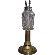 REDUCED Rare Base on an Early Fluid lamp with Restored Pewter Camphene Burner !!!  Circa 1850