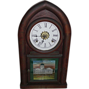 """REDUCED Waterbury """"Beehive"""" Shelf Clock with Time & Strike, and Alarm, with """""""