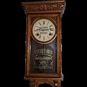 "SOLD Rare Miniature Salesman Sample ""REED'S Tonic*Cures Malaria"" Advertising Clock C"