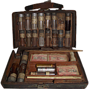 SOLD Identified Doctor J. Paul Roebuck from Lititze,Pa. Leather Medicine Case !!!