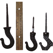 REDUCED Choice of 3 Victorian Ceiling Hooks Circa 1890's for only $20.00 each !!!