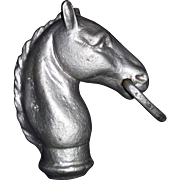 """REDUCED Authentic """"Horse Head"""" for Hitching Post made of cast Iron Circa 1900 !!!"""