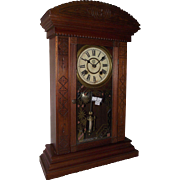 """REDUCED Rare Smallest Weight Driven New Haven """"Ganges"""" Model Shelf Clock !!! Circa 1"""