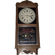"REDUCED Near Mint  ""Dr. Pepper"" Store Advertiser Clock with Calendar Date on Dial !!"