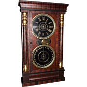 "REDUCED ""National Calendar Clock Company"" with 8 Day Time & Chime Movement !!! Circa"