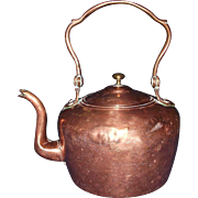 REDUCED Dovetailed Transitional Copper Teapot Circa 1865 !!!