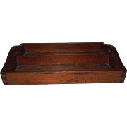 REDUCED Hand Dovetailed Primitive Pine Kitchen Utensil Tray Circa 1860 !!!