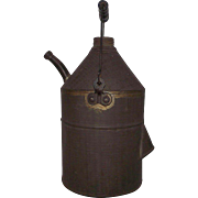 REDUCED Primitive Tinsmith Kerosene / Oil Filler Jug Circa 1865 !!!