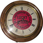 """REDUCED Authentic """"Lucky Strike"""" Advertising Gallery 8 Day Clock with Time & Strike"""