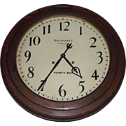 """Large """"Ball Watch Co. 30 Day Gallery Clock"""" with 18 inch Dial and 24 inch ..."""
