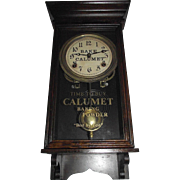 "Super Rare Salesman Sample ""Calumet Baking Powder"" Advertising Clock Circa 1915 !!!"
