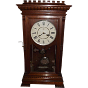"REDUCED RARE Seth Thomas ""Garfield"" Model Solid Walnut Shelf Clock with Time & Strik"
