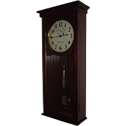 REDUCED Seth Thomas No. 4 Wall Regulator with 8 Post Movement in a Pristine Mahogany Case Circ