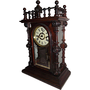 "REDUCED Rare ""Gerster V.P."" Ornate Model Rosewood Shelf Clock made by the Welsh Cloc"
