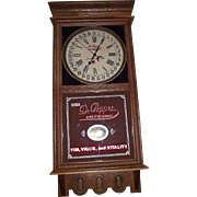 "REDUCED Authentic ""Dr. Pepper"" Soda Advertising Store Regulator with Calendar Date m"