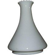 "REDUCED Early ""Angle Lamp"" Milk White Glass Chimney !"