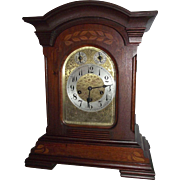 "Solid Mahogany ""Junghans"" Germany stamped Westminster Chimes Clock with an Art Nouve"