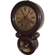 "Rosewood ""Ionic"" Model Wall Clock with 8 Day Time & Strike movement made by E. Ingra"