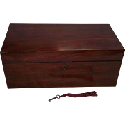 """REDUCED Colonial American Mahogany """"Travel Desk"""" with secondary Pine & Poplar Woods"""