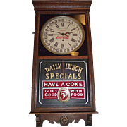 "Combination ""Coca-Cola & F.W. Woolworth"" Store Advertising Regulator Clock with Cale"