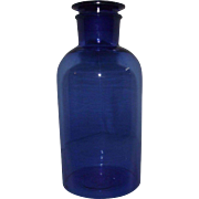 Cobalt Blue Glass Pharmacy Jar.