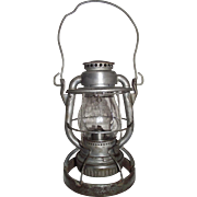 "Weighted ""Reading Company Locomotive Dept."" Railroad Lantern with original ""R."