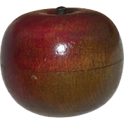 """Miniature Spice Treenware in a """"Hollow Wood Apple"""" Form !!!"""