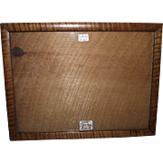"REDUCED Rare ""Solid Tiger Maple"" 8 by 10 3/4 inch Picture Frame ! Great for matting"